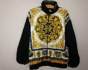 90s royalty silk windbreaker jacket size M