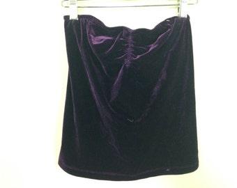 purple velvet top size S