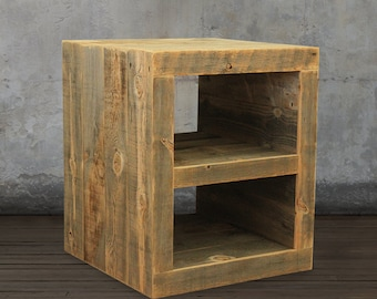 Reclaimed Wood Side Table/ Night Stand