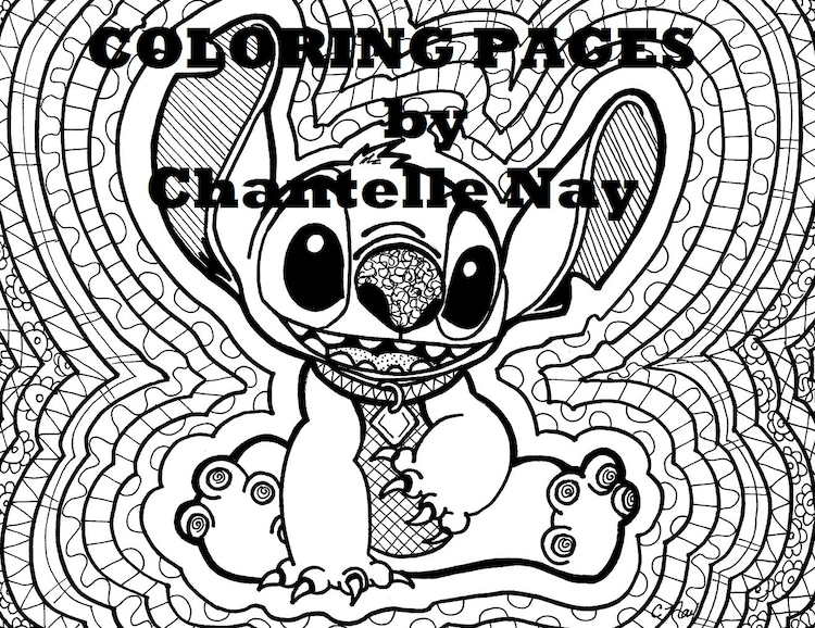 coloring page stitch disney coloring by chantellenay