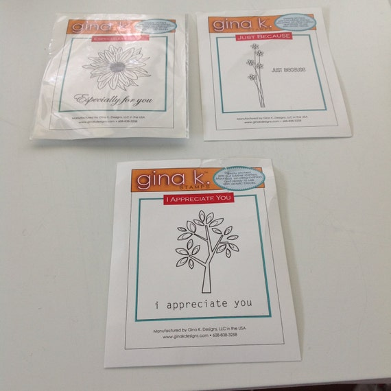 3 Stamps, Card making, Scrapbooking, NEVER USED