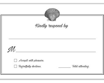 Guajolote Prints RSVP Cards Postcards for Wedding Reception - 24 Beach Style
