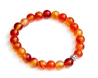 Carnelian bracelet, carnelian jewelry, carnelian bracelets, carnelian beads, sacral chakra bracelet, fall bracelet, autumn bracelet