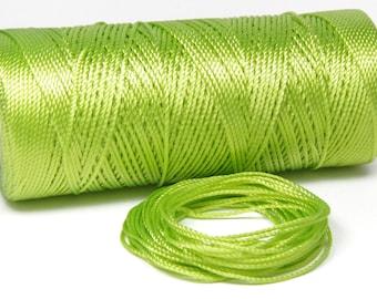 15 Meters Crochet Thread - Nylon Cord - Not Waxed 0.8mm - Pistachio