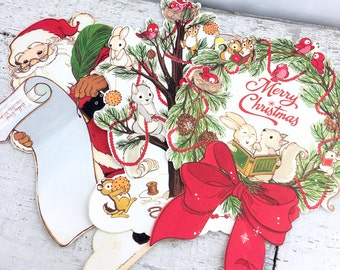 3 Heavy Stock Vintage Holiday Hallmark Die Cuts - Wall Decor