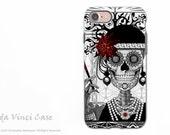 Flapper Girl Sugar Skull iPhone 7 Tough Case - Dual Layer Protection - Mrs Gloria Vanderbone