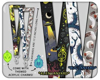 Coey: Aliens / Bugs (Lanyards & Charms)