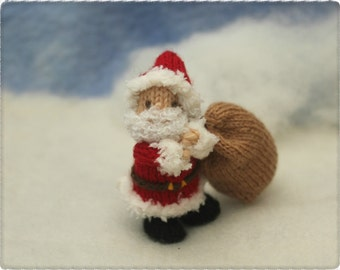 Little Santa knitting pattern PDF