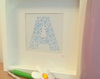 Letter Papercut with Stars design