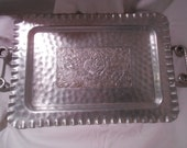 Cromwell Pure Aluminum Vintage Hammered Serving Tray