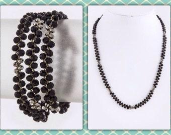 Crystal wrap bracelet/necklace
