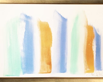 Brush Strokes Abstract Painting