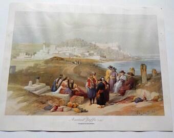 Ancient Jaffa (1839), Lithograph by David Roberts