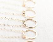 SALE Hakumele necklace - gold eternity necklace, gold necklace, simple gold necklace, hawaii bridesmaid necklace, circle necklace, maui, haw