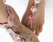 Beach Barefoot Sandals- Foot Jewelry- Footless Sandals- Barefoot Wedding Sandal- Beach Wedding- Bridesmaid gift- Valentine's Gift