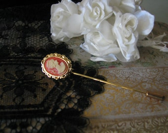 Lovely Vintage Victorian Style Cameo Stick Pen
