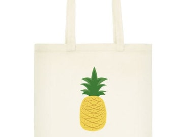 Pineapple Cotton Tote Bag - Cotton Tote Bag - Pineapple Bag - Pineapple Tote