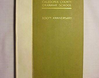 1900 Caledonia County Grammar School Peacham Vermont, Antique School History Book