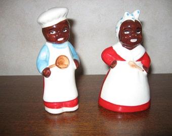 Black Americana Salt and Pepper