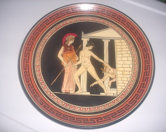 Vintage Grecian Pottery Plate