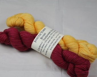 True/Sunshine Halfsies Beyond 80/10/10 MCN fingering weight sock yarn