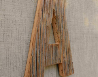 Unfinished Barn Wood Letter A / Cabin Decor / Reclaimed Wood Letter / Primitive Letter A / Farmhouse Wall Decor