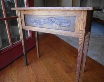 Barn Wood / Barn Wood End Table / Reclaimed Wood / Cabin Table / Farmhouse Furniture / Mission Style / Rustic Decor / Folk Art / Primitive