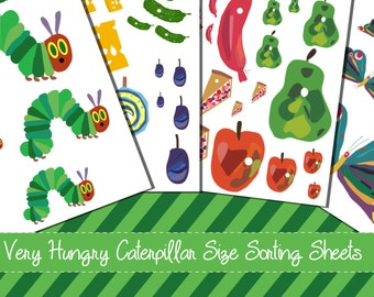 Very Hungry Caterpillar Size Ordering