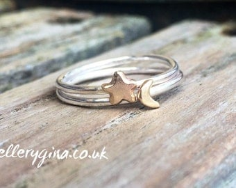 To the moon snd back stacking rings