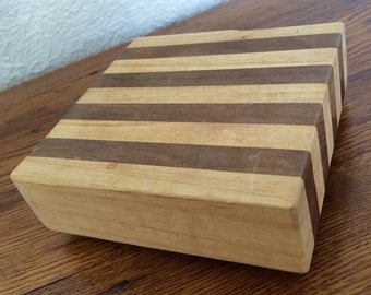 "Vintage Miniature Table Top Cutting Board Butcher Block 5"" x 5"""