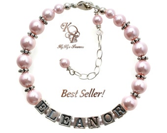Little Girl Jewelry Personalized Baby Bracelet Baby Jewelry Keepsake Bracelet Baby Bracelet Baby Shower Gift Girl Name Bracelet Baby Gifts