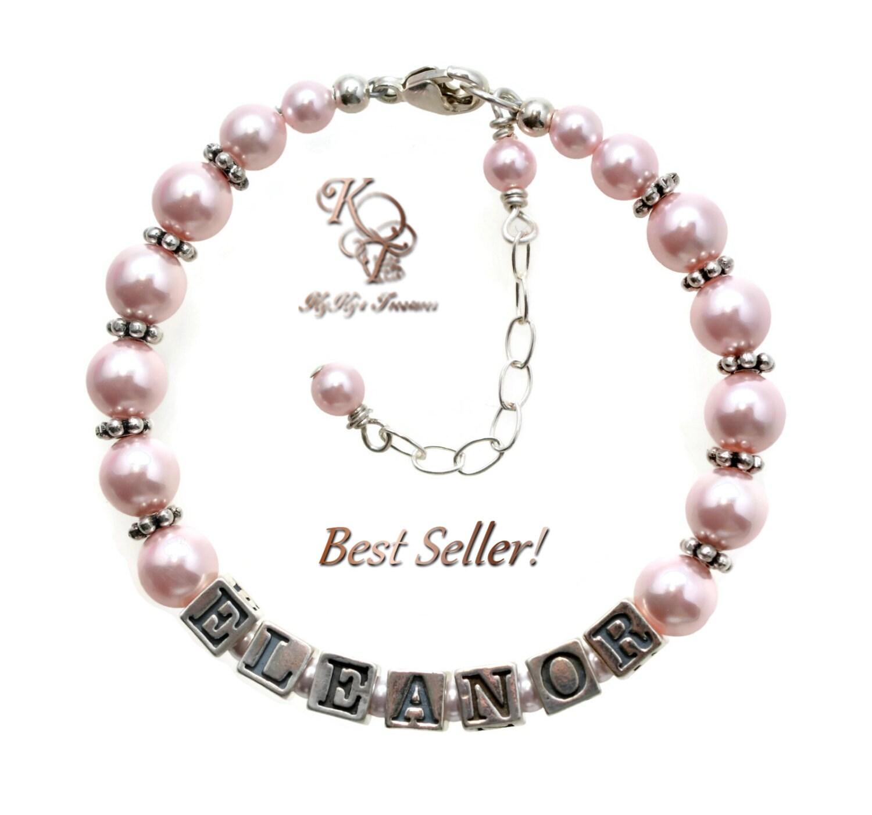 Personalized Girl Bracelet, Little Girl Bracelet ...   Personalized Baby Jewelry For Girls