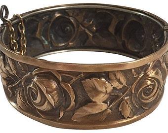 English Roses Metal Cuff