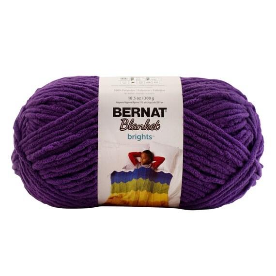 Bernat Blanket Brights Yarn Pow Purple Large Skein 300 Grams