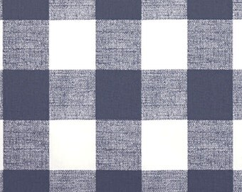 Gunmetal Dark Gray and White Buffalo Check Curtains - Rod Pocket - 84 96 108 or 120 Long by 24 or 50 Wide - Optional Blackout Lining