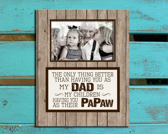Father's Day gifts, Papa, Poppa, Grandpa, Dad, Father, rustic, PHOTO MAT, Personalized gift