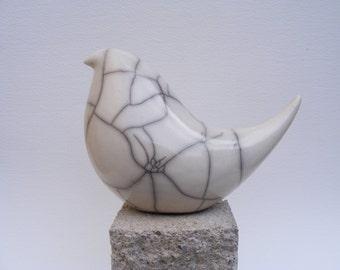 Raku glazed bird (D)