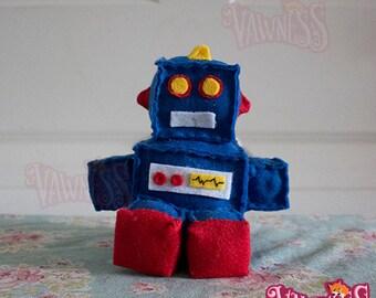 Retro Robot 'V' small