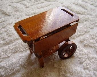 Vintage Dollhouse Wood Food Cart/Miniature