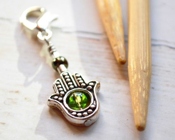 Symbol of Protection / Knitting Progress Marker  / Removable Stitch Marker / Crochet Stitch Marker / Locking Stitch Marker