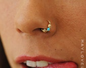 Nose ring hoop, Tragus, Helix, Cartilage Ring, gold Nose ring, Nose Jewelry, Nostril Hoop, Nose Piercing, Nose Earring, Nostril Jewelry