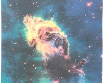 Jet in Carina Nebula 16 x 18 inch (40 x 45 cm) Astronomy Photograph on Kona Cotton Fabric