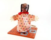 Vintage Disney Dachsie Lady and the Tramp Puppet Gund - Collectible Puppet - Vintage Toy - Lady and the Tramp Movie