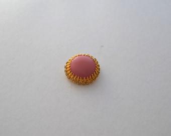 Retro 60s Costume Jewellery Pink Brooch