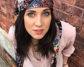 Tichel Pattern scarf pre tied