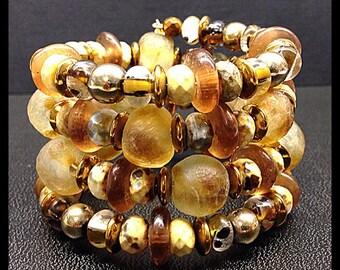 Memore wire cuff bracelet