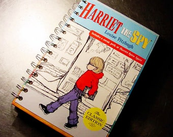 HARRIET the SPY Journal Notebook Recycled Book SPECIAL Order Only