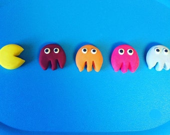 Miniature Clay Pacman & Ghosts