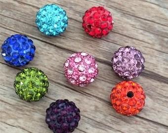 10pcs Mixed color polymer clay Shamballa Beads Rhinestone For Shamballa Bracelet