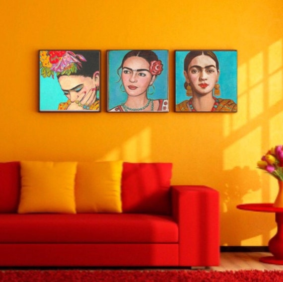 112 Best Images About House Painting On Pinterest: 40% Off Frida Kahlo Print Canvas Wrap Home Decor Corporate